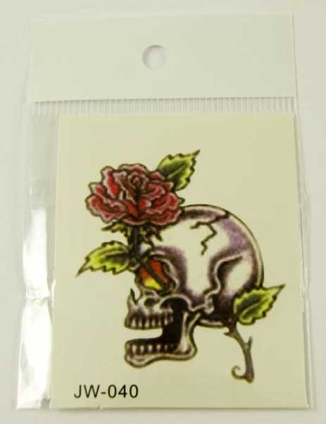 Tattoo Sticker Skull Eye (5pcs)