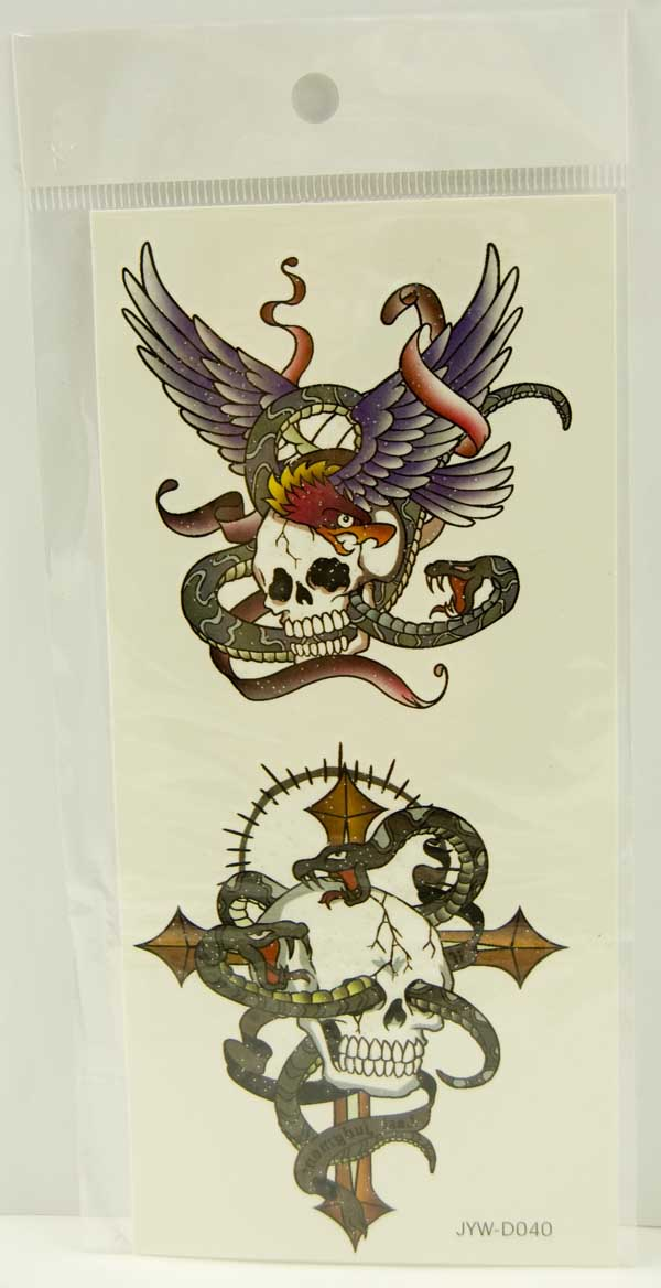 Tattoo Stickers Standard Design 1 (2pcs)