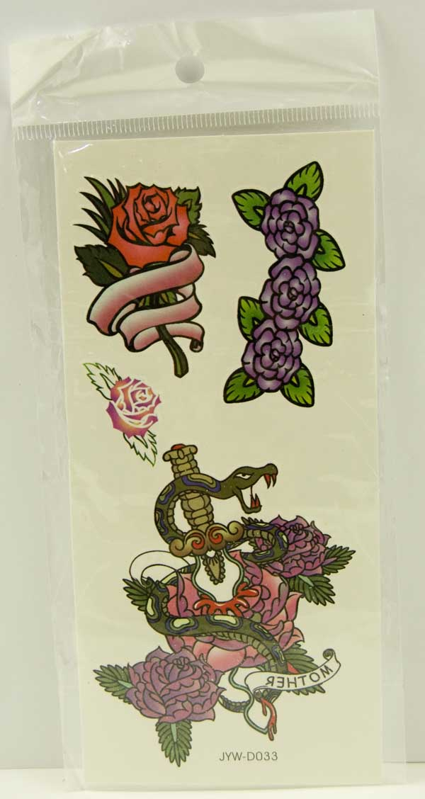 Tattoo Stickers Standard Design 15 (2pcs)