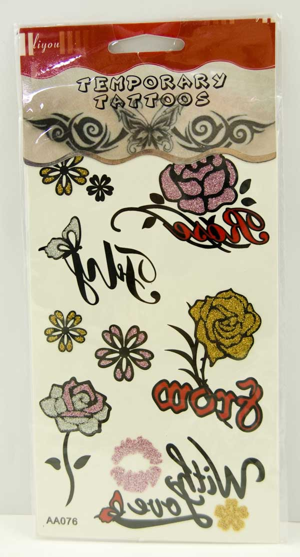 Tattoo Stickers With Glitter Design 1 (2pcs)
