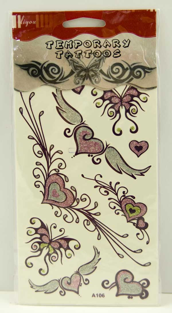 Tattoo Stickers With Glitter Design 8 (2pcs)