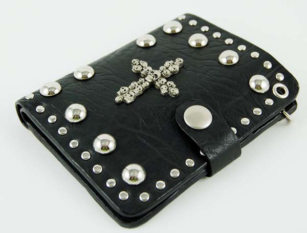 Wallet With Skulls And Cross