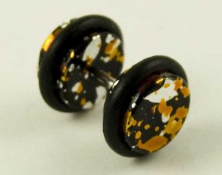 Body Piercing Plug Fake Acrylic Orange 8mm