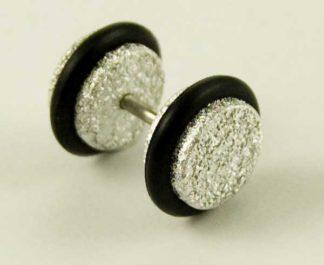Body Piercing Plug Fake Acrylic Silver