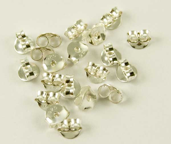 Silver Earring Backs 10 Pairs