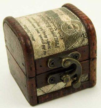 Box Wooden Chest 6X6X6cm