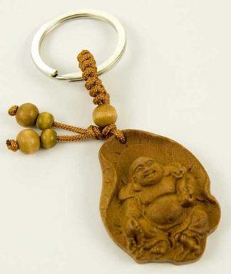 Keyring Wooden Buddha Sitting