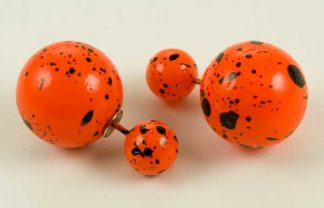 Earring Acrylic Ball Orange