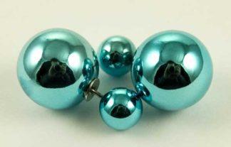 Earring Acrylic Ball Turquoise