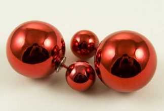 Earring Acrylic Ball Red