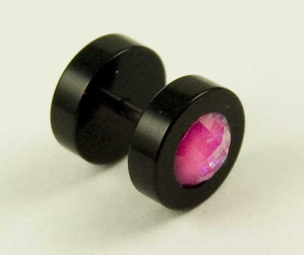 Body Piercing Plug Fake Rose Pink