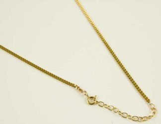 Bronze Necklace Curb 18 Inch