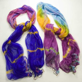 Scarf Tye Dye Assorted Colours