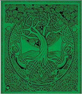 Bedspread Double Tree Of Life Green