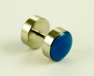 Body Piercing Plug Fake UV Blue