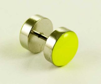 Body Piercing Plug Fake UV Yellow