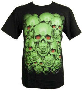 T-Shirt Large Skulls Glow