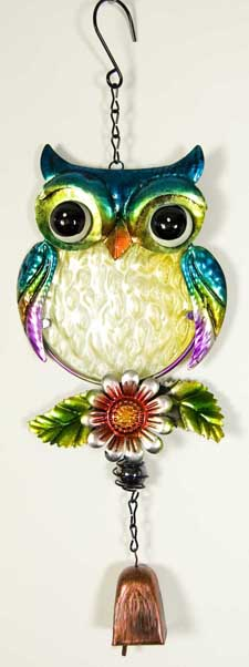 Mobile Wind Bell Owl