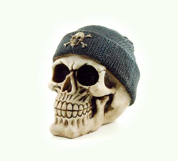 Skull Ivory Wearing Beanie Hat
