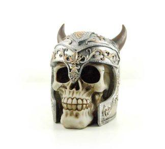 Skull Ivory With Viking Helmet