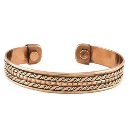 Bracelet Copper Magnetic Woven