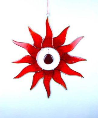 Suncatcher Sun Red And Orange