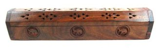 Incense Box Wood Elephant
