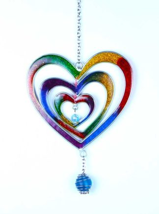 Suncatcher Hearts 24cm**BUY 6 PCS FOR £2.25 EACH