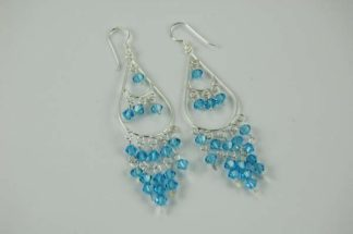 XX-Earring Silver Blue Tier Tear Drop