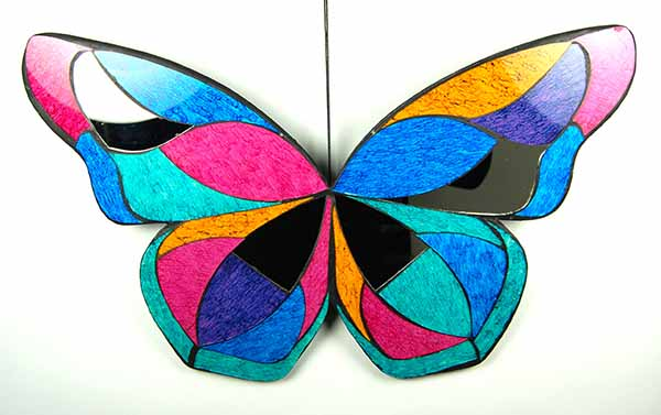 Butterfly Mosaic Wall Art