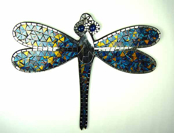 Dragonfly Mosaic Wall Art