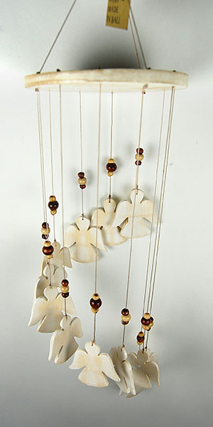Mobile Wooden Angels Spiral