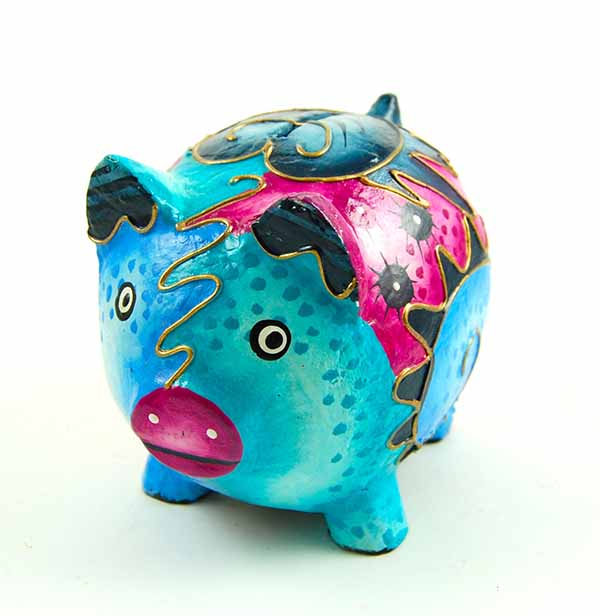 Money Bank Pig Wooden Mexican