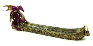 Incense Holder Dragon Purple