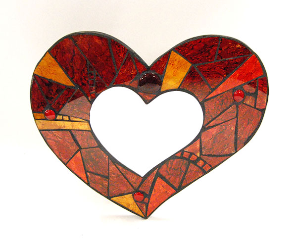 Mirror Heart Mosaic