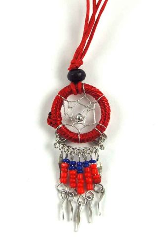 Necklace Dream Catcher Red