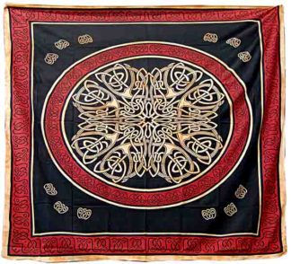 Bedspread Double Celtic Orange