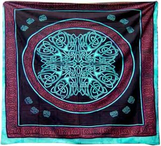 Bedspread Double Celtic Turquoise