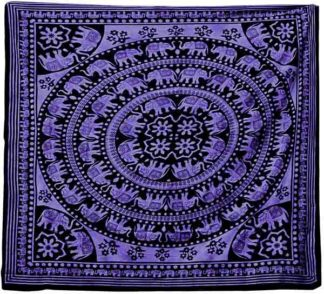 Bedspread Single Elephant Purple