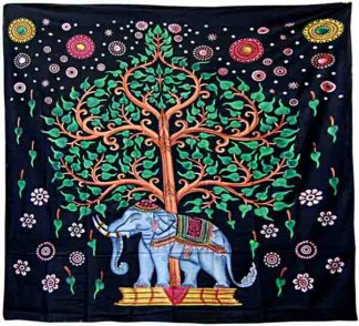 Bedspread Single Tree Elephant