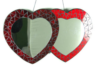 Mirror Heart Double Red Color