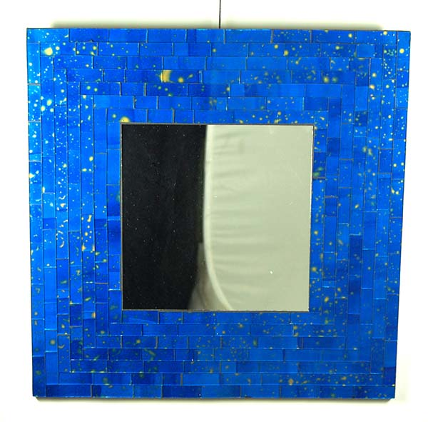Mirror Square Blue 40X40cm