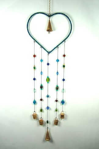 Wind Chime Heart With Bells