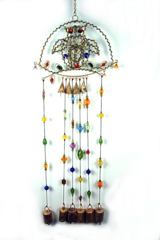Wind Chime Owl On Perch