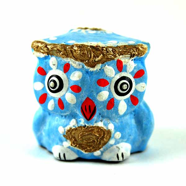 Owl Wooden Painted (Assorted Colours) 1PC