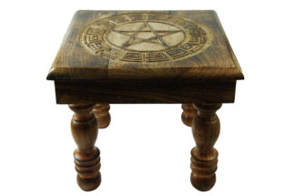 Altar Table Wooden Pentagram