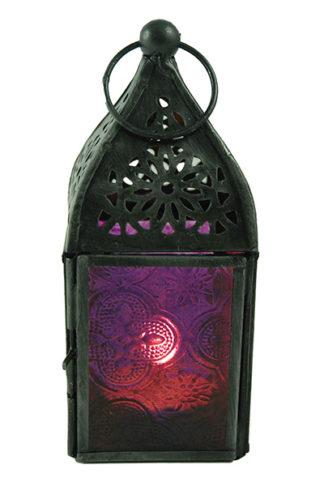Lantern Candle Holder Purple
