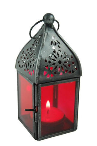 Lantern Candle Holder Red