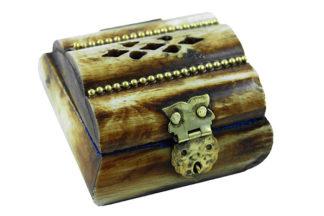 Box Bone Antique 2.25X2.25X1.75 Inch