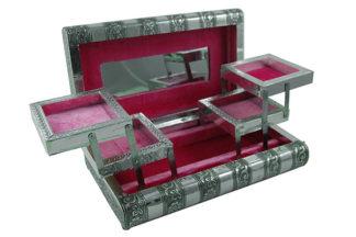 Box Jewellery Metal Pink 11X6 Inch